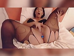 BBW Asian almost Underthings Touches Himself Sexually greater than Webcam