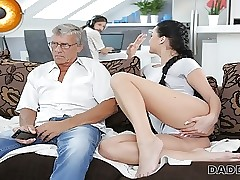 DADDY4K. Mendicant is engaged in computers as a result why GF fucks his