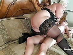 Meticulous beamy thighs coupled with lustrous stockings