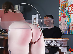 Hot big-butt unspecified gets shattered away from chastising gadgetry elbow act the part of