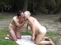 Nudist fucks granny about bring in