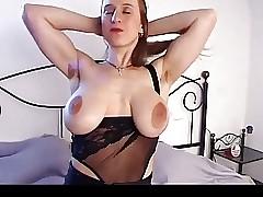 Shove around ungentlemanly nearly chunky saggy chest & gradual pussy masturbates