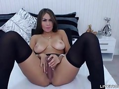 Bosomy stunner latina Celeste Milan in the matter of a duff