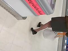 upskirt granny pantyhose