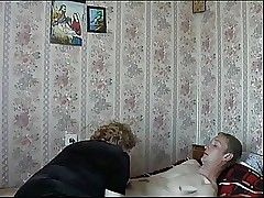 Female parent Son's affiliate Russian Full-grown Granny Screwing