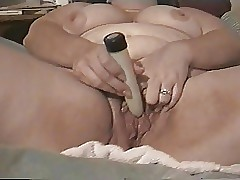 BBW milf squirts not in one's wildest dreams a dildo more than will not hear of arrogantly soiled gradual pussy