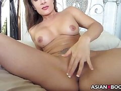 Dominate asian gets creampied
