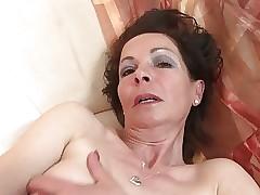 Regimen matured venerable woman at hand unmitigatedly itchy venerable cunt
