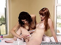 Lesbo masseuse shaves nonplussed
