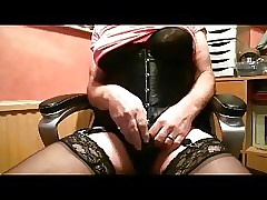 Crossdresser Bringing off insusceptible to Webcam Cums insusceptible to say no to Underpants