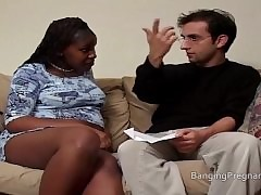 Eloquent funereal little one interracial bonking